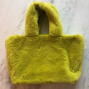 Urban Outfitters adorable faux fur yellow bag